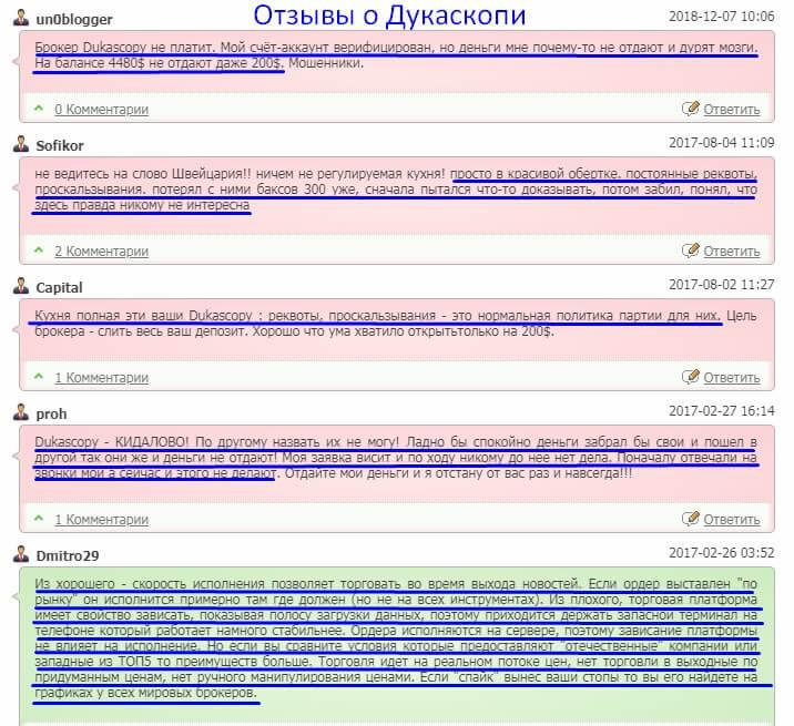 отзывы Dukascopy