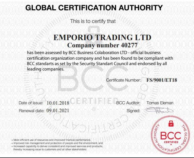 брокер Emporio Trading